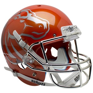 Boise State Replica Orange Chrome XP Helmet