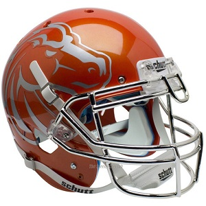 Authentic Boise State Orange Chrome XP Helmet