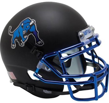 Buffalo Bulls Matte Black XP Helmet