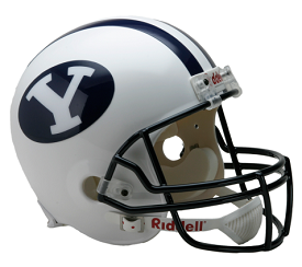 BYU Cougars Full Size Replica Football Helmet by Riddell