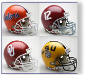 Authentic and Replica USC Football Helmets by Riddell and Schutt