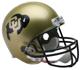 University of Colorado Buffaloes Full Size Replica Football Helmet by Riddell