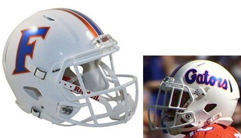 University of Florida Gators White Speed Helmet