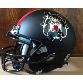 Replica Fresno State Black XP Helmet by Schutt