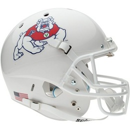 Replica Fresno State White XP Helmet by Schutt