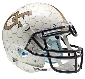 Authentic Georgia Tech Alternate Honeycomb XP Helmet by Schutt