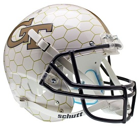 Replica Georgia Tech Honeycomb XP Helmet by Schutt