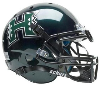 University of Hawaii Rainbows XP Football Helmet