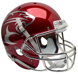 Houston Cougars Replica Red Chrome XP Helmet