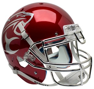 Authentic Houston Cougars Red Chrome XP Helmet
