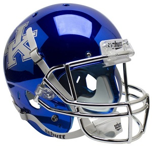Replica University of Kentucky Wildcats Blue Chrome XP Helmet