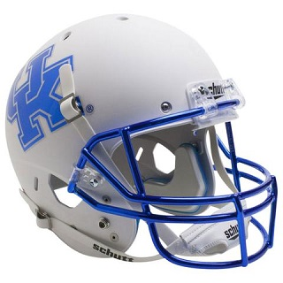 University of Kentucky Wildcats White Chrome Mask XP Football Helmet