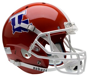 this is a full size replica of the authentic louisiana tech xp helmet