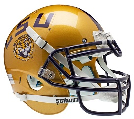 Authentic LSU Gold XP Helmet by Schutt