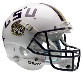 Replica LSU White XP Helmet by Schutt