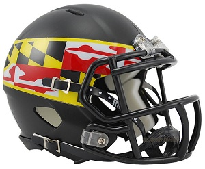 University of Maryland Alternate Black Speed Helmet by Riddell