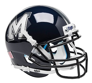 University of Memphis Tigers Black XP Helmet