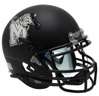 University of Memphis Tigers Matte Black XP Helmet