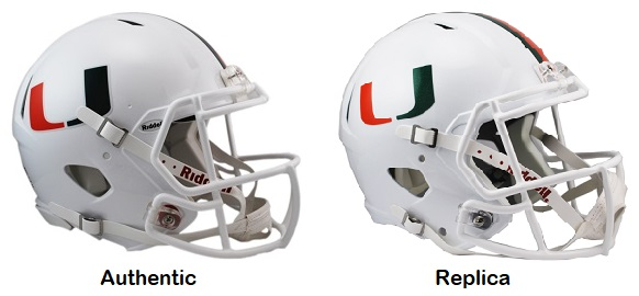 University of Miami Hurricanes Authentic Speed Helmet