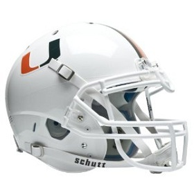 University of Miami Hurricanes Authentic XP Helmet