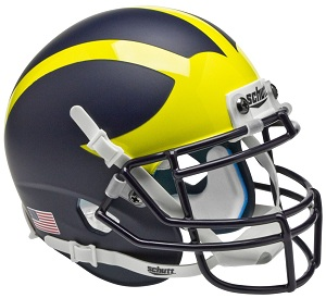 Replica University of Michigan Matte Blue XP Helmet