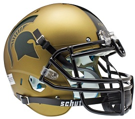 Authentic Michigan State Spartans Gold XP Helmet by Schutt