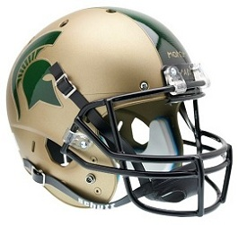 Replica Michigan State Gold XP Helmet by Schutt