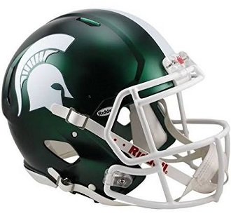 Michigan State Spartans Satin Matte Green Speed Helmet