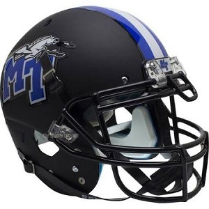 Middle Tennessee State Blue Raiders Matte Black XP Football Helmet