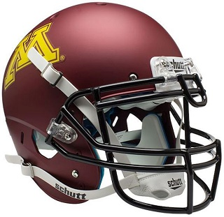 University of Minnesota Gophers Matte Maroon XP Helmet