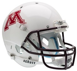 University of Minnesota Replica White XP Football Helmet