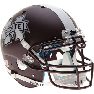 Mississippi State Bulldogs Matte Maroon XP Football Helmet