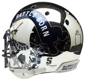 Authentic University of Nevada Chrome XP Helmet