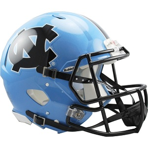 University of North Carolina Authentic Speed Football Helmet