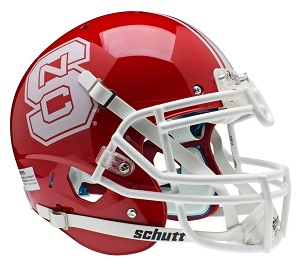 North Carolina State Wolfpack Authentic Red XP Football Helmet by Schutt