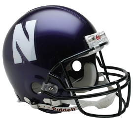 Northwestern Wildcats Authentic VSR4 Football Helmet by Riddell