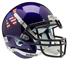 Authentic Northwestern Flag XP Helmet