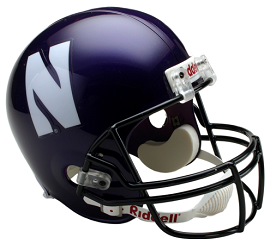 Northwestern Replica Football Helmet by Riddell