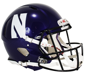 Northwestern Wildcats Authentic Speed Football Helmet