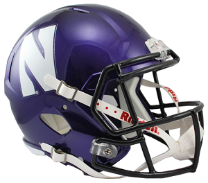 Northwestern Wildcats Replica Speed Helmet