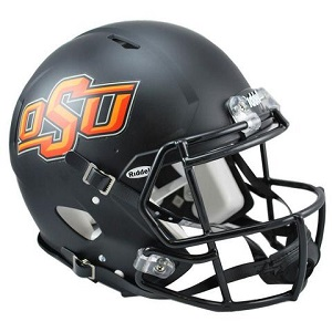 Oklahoma State Authentic Black Speed Football Helmet