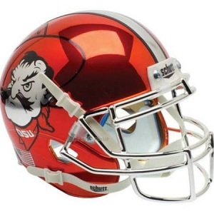 Oklahoma State Pistol Pete Orange Chrome XP Helmet