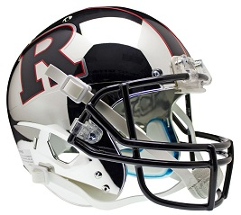 Replica Rutgers Chrome Black XP Helmet by Schutt