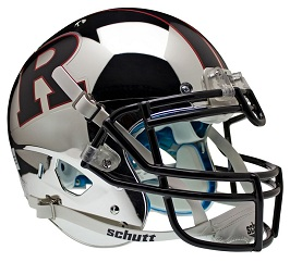 Authentic Rutgers Chrome Black XP Helmet by Schutt