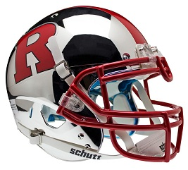 Authentic Rutgers Chrome Scarlet XP Helmet by Schutt