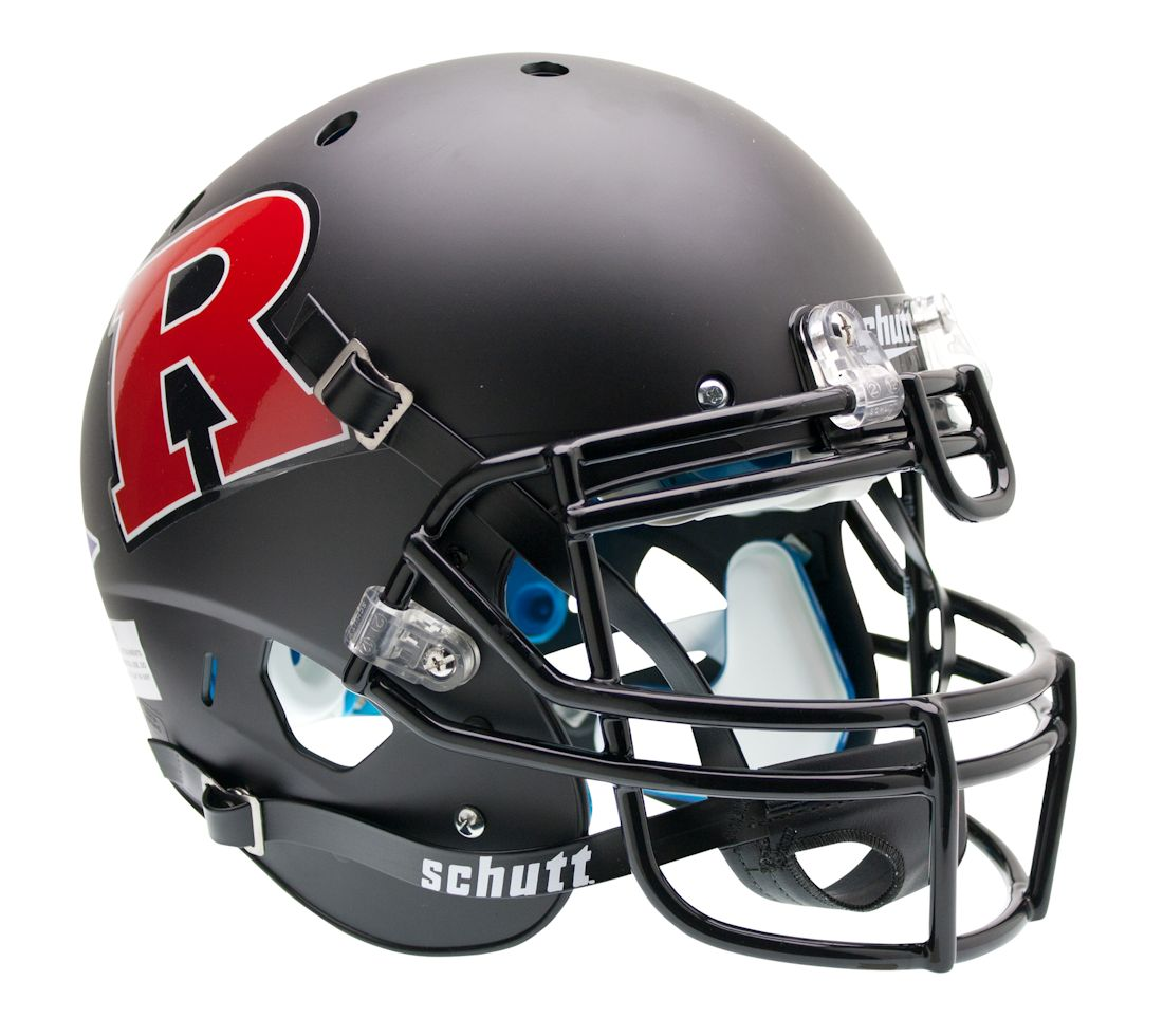 Authentic Rutgers Matte Black XP Helmet by Schutt