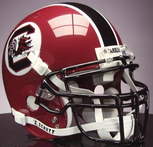University of South Carolina Garnet XP Football Helmet
