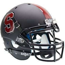 Stanford Cardinal Authentic Black Football Helmet by Schutt