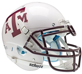 Authentic Texas A&M White XP Helmet by Schutt