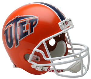 University of Texas El Paso Miners Full Size Replica Football Helmet by Riddell